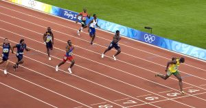 Jamacican Bolt wins 200 final in Olympic athletics in Beijing