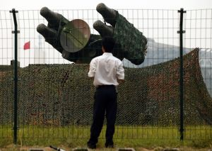 Anti-aircraft missiles in Beijing